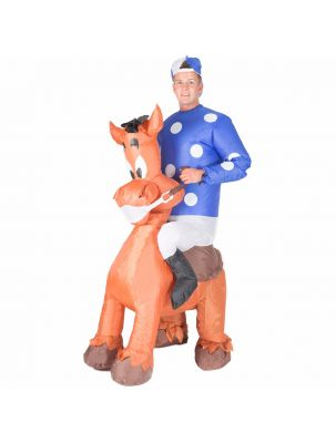Adult Inflatable Jockey Costume