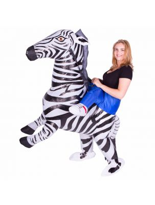 Adult Inflatable Zebra Costume