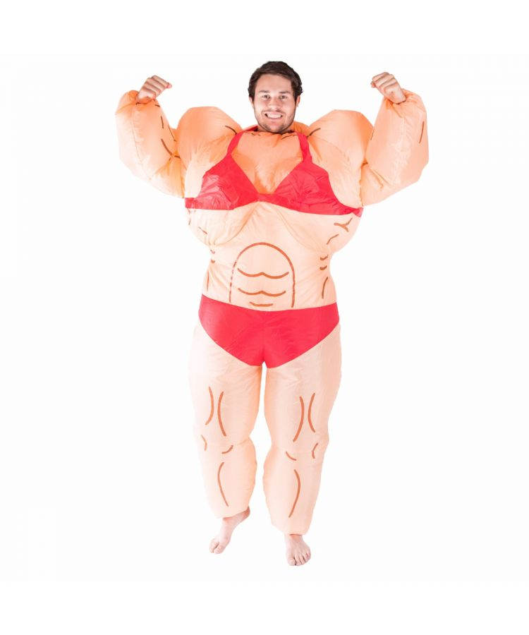 Adult Inflatable Fat Lady Bodybuilder (Musclewoman) Costume