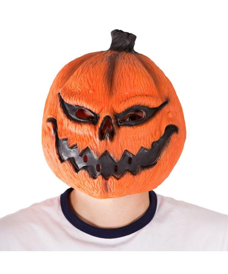 Latex Pumpkin Mask