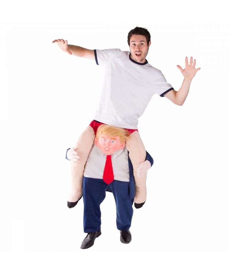 Adult Piggyback Donald Trump Costume