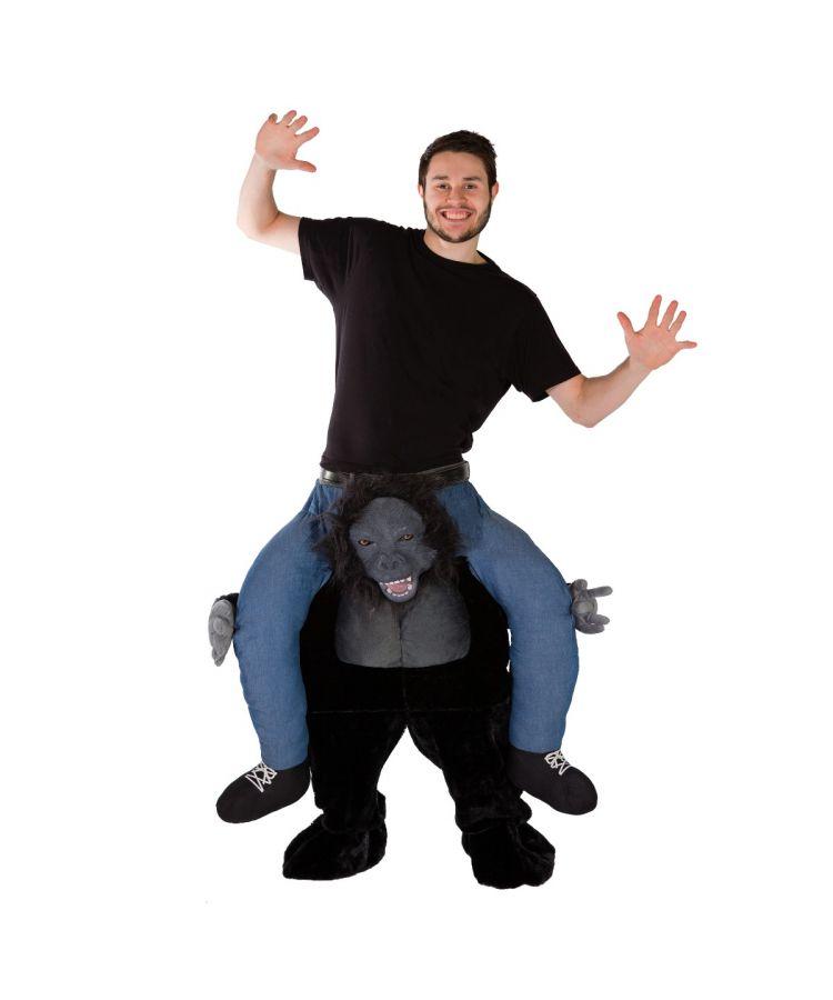 Adult Piggyback Premium Gorilla Costume